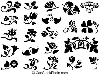 Fotogramas de flores