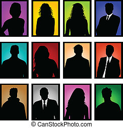 Fotos de color en la gente de negocios