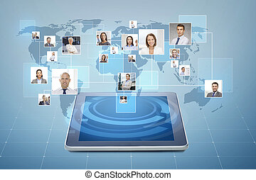 Fotos de gente de negocios sobre tablet pc