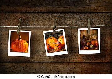 Fotos de Halloween en madera afligida