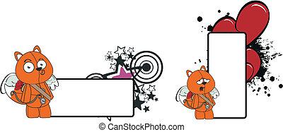 Fox Cupido espacio de dibujos animados