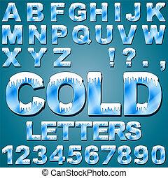 frío, cartas, hielo