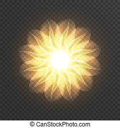fractal, flower., ilustración, resumen, vector