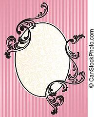 Fractura ovalada romántica francesa en rosa