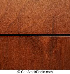 Fragmento de madera barnizado