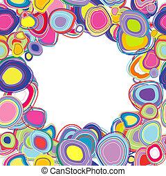 Frame con círculos de color