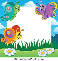 Frame con mariposas el tema 1