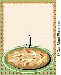 Frame con pizza