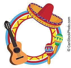 Frame con símbolos mexicanos