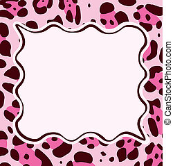 Frame con textura de piel de leopardo abstracto
