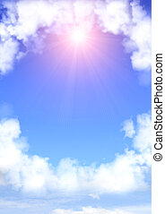Frame de las nubes blancas