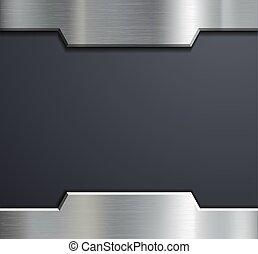 Frame de una placa de metal.