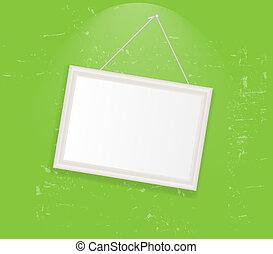 Frame en la ilustración del vector retro
