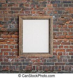 Frame en la pared de ladrillos