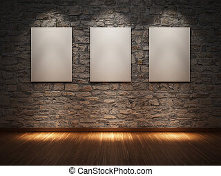 Frame en la pared de piedra