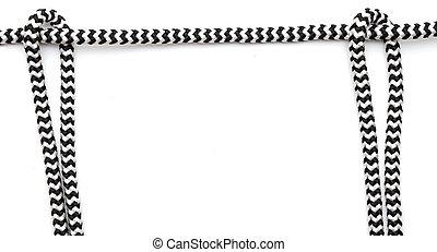 Frame hecha de cuerda aislada en blanco