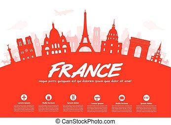 Francia, París hace referencias.