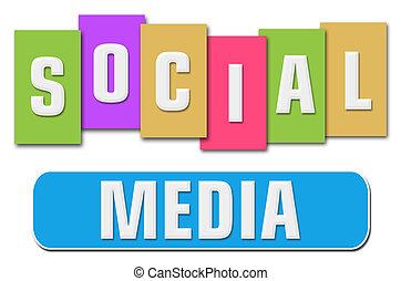 Franjas coloridas de las redes sociales