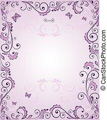 Frase de saludo púrpura