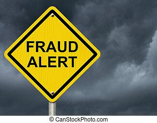 fraude, alarma