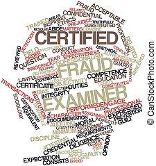 fraude, examinador, certificado