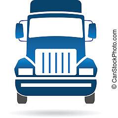 frente, logotipo, imagen, camión