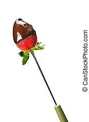 Fresa bañada en chocolate