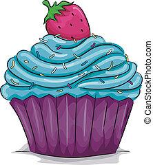 fresa, cupcake