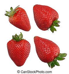 Fresas aisladas en blanco
