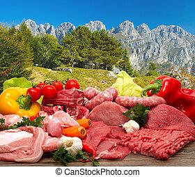 fresco, carne cruda