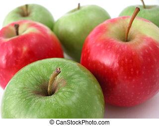 fresco, crujiente, manzanas