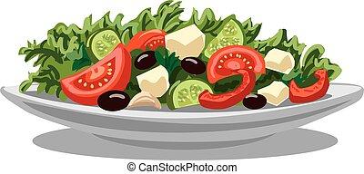 fresco, ensalada griega