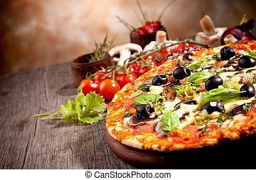 fresco, italiano, pizza