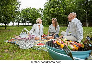 Friencds picnic de barbacoa