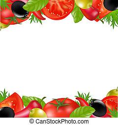 Frontera con verduras