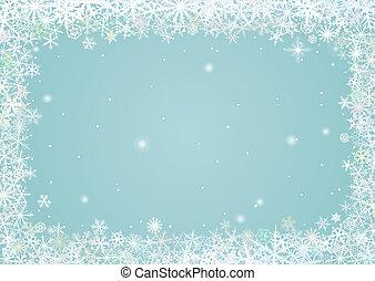 frontera, copos de nieve