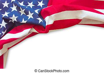 Frontera de bandera americana aislada