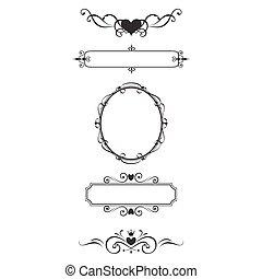 Frontera de decoración y marcos.