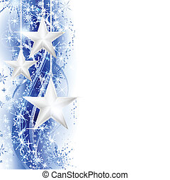 Frontera de estrellas de plata azul
