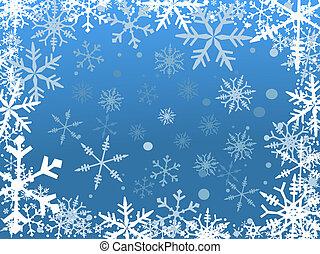 Frontera de nieve