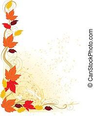 Frontera del otoño