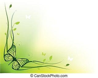 Frontera floral elegante