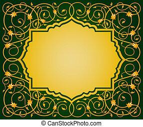 Frontera floral islámica