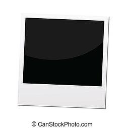 frontera, marco de la foto, polaroid, vector, o