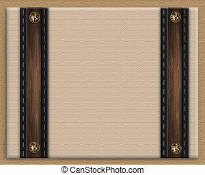 frontera marrón, masculino, invitación