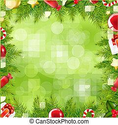 frontera, navidad, mancha, árbol