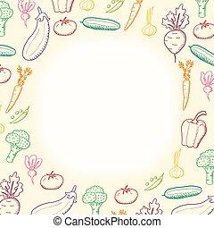 frontera, vegetales, vector