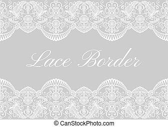 Fronteras de encaje blanco