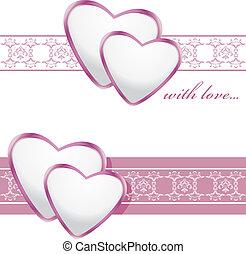 Fronteras ornamentales con corazones