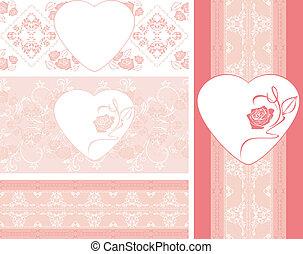 Fronteras rosas sin mar con rosas